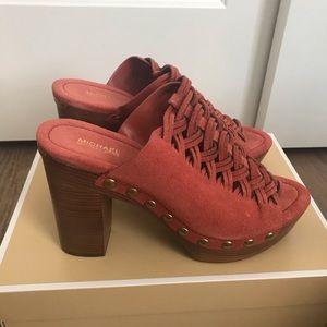 MICHAEL Michael Kors Shoes - Michael Kors westley suede mule cinnamon size 9